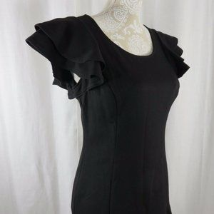 NUE by Shani Little Black Dress LBD 6 Fitted
